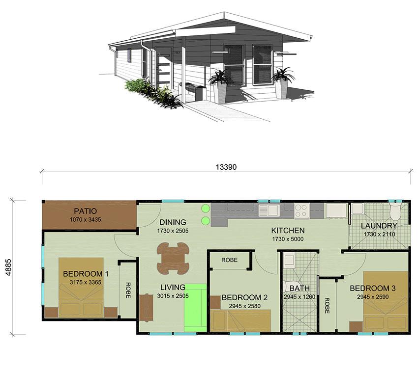 Trenz granny flat plans newcastle hunter valley lake macquarie for 3 bedroom granny flat designs