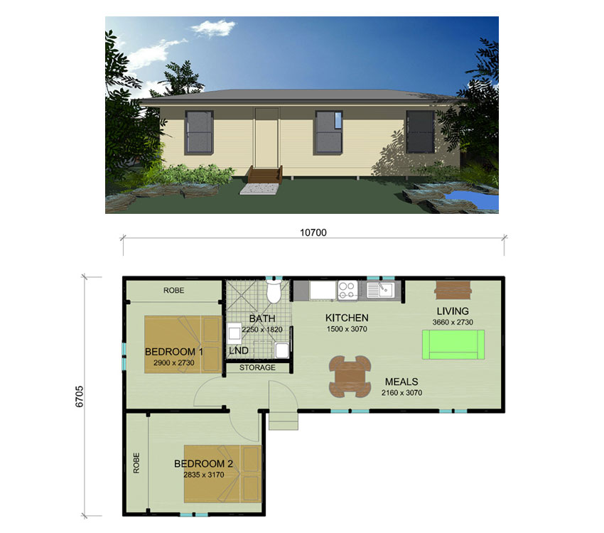 Trenz Granny Flat Plans Newcastle Hunter Valley Lake Macquarie - 1 Bedroom Floor Plan Granny Flat